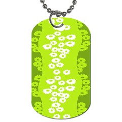 Sunflower Green Dog Tag (two Sides) by Mariart