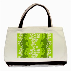 Sunflower Green Basic Tote Bag (two Sides) by Mariart