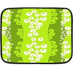 Sunflower Green Double Sided Fleece Blanket (mini)  by Mariart