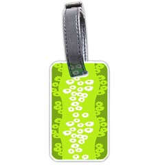Sunflower Green Luggage Tags (two Sides) by Mariart