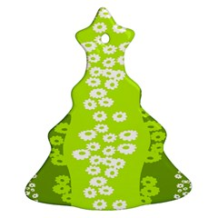 Sunflower Green Ornament (christmas Tree)  by Mariart