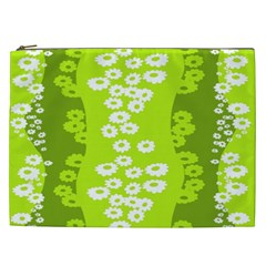 Sunflower Green Cosmetic Bag (xxl)  by Mariart