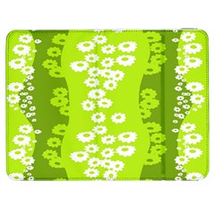 Sunflower Green Samsung Galaxy Tab 7  P1000 Flip Case by Mariart