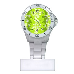 Sunflower Green Plastic Nurses Watch by Mariart