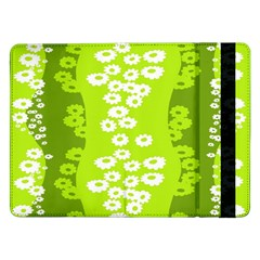 Sunflower Green Samsung Galaxy Tab Pro 12 2  Flip Case by Mariart