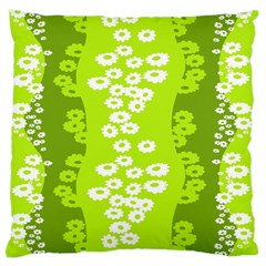 Sunflower Green Standard Flano Cushion Case (two Sides) by Mariart