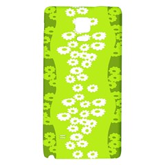 Sunflower Green Galaxy Note 4 Back Case by Mariart