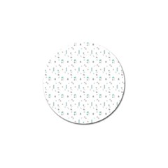 White Triangle Wave Waves Chevron Polka Circle Golf Ball Marker (4 Pack) by Mariart