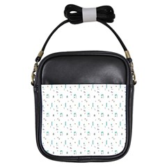 White Triangle Wave Waves Chevron Polka Circle Girls Sling Bags by Mariart