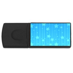 Star Blue Sky Space Line Vertical Light Usb Flash Drive Rectangular (4 Gb) by Mariart