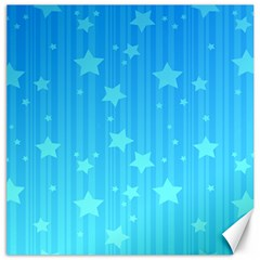 Star Blue Sky Space Line Vertical Light Canvas 12  X 12   by Mariart
