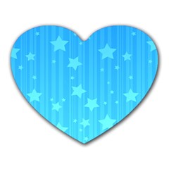 Star Blue Sky Space Line Vertical Light Heart Mousepads by Mariart
