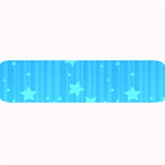 Star Blue Sky Space Line Vertical Light Large Bar Mats by Mariart