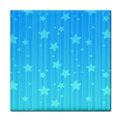 Star Blue Sky Space Line Vertical Light Face Towel by Mariart