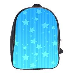 Star Blue Sky Space Line Vertical Light School Bags(large)