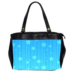 Star Blue Sky Space Line Vertical Light Office Handbags (2 Sides)  by Mariart