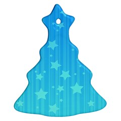 Star Blue Sky Space Line Vertical Light Christmas Tree Ornament (two Sides) by Mariart