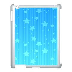 Star Blue Sky Space Line Vertical Light Apple Ipad 3/4 Case (white) by Mariart