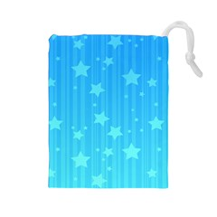 Star Blue Sky Space Line Vertical Light Drawstring Pouches (large)  by Mariart