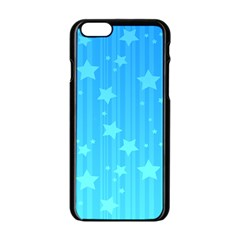 Star Blue Sky Space Line Vertical Light Apple Iphone 6/6s Black Enamel Case by Mariart