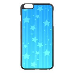 Star Blue Sky Space Line Vertical Light Apple Iphone 6 Plus/6s Plus Black Enamel Case by Mariart
