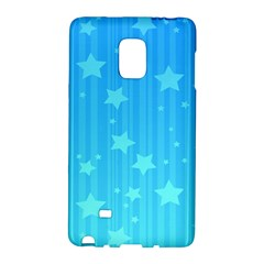 Star Blue Sky Space Line Vertical Light Galaxy Note Edge by Mariart