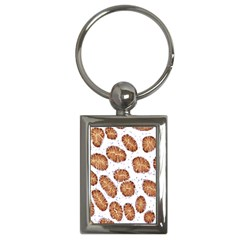Formalin Paraffin Human Stomach Stained Bacteria Brown Key Chains (rectangle)  by Mariart