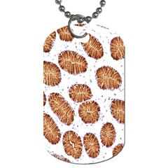 Formalin Paraffin Human Stomach Stained Bacteria Brown Dog Tag (two Sides) by Mariart