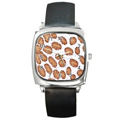 Formalin Paraffin Human Stomach Stained Bacteria Brown Square Metal Watch by Mariart