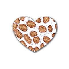 Formalin Paraffin Human Stomach Stained Bacteria Brown Heart Coaster (4 Pack)  by Mariart