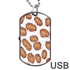Formalin Paraffin Human Stomach Stained Bacteria Brown Dog Tag Usb Flash (two Sides) by Mariart