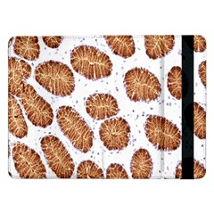 Formalin Paraffin Human Stomach Stained Bacteria Brown Samsung Galaxy Tab Pro 12 2  Flip Case by Mariart