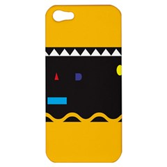 Bright Polka Wave Chevron Yellow Black Apple Iphone 5 Hardshell Case by Mariart