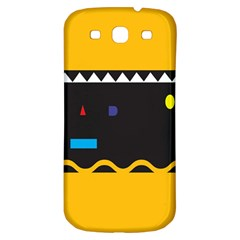 Bright Polka Wave Chevron Yellow Black Samsung Galaxy S3 S Iii Classic Hardshell Back Case by Mariart