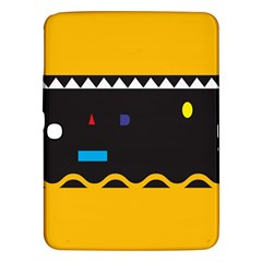 Bright Polka Wave Chevron Yellow Black Samsung Galaxy Tab 3 (10 1 ) P5200 Hardshell Case  by Mariart