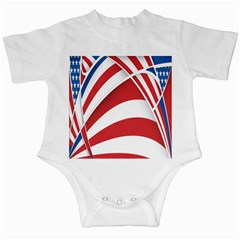 American Flag Star Blue Line Red White Infant Creepers by Mariart