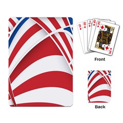 American Flag Star Blue Line Red White Playing Card by Mariart