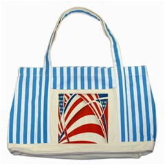 American Flag Star Blue Line Red White Striped Blue Tote Bag by Mariart