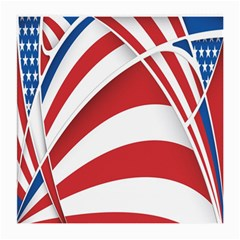 American Flag Star Blue Line Red White Medium Glasses Cloth by Mariart
