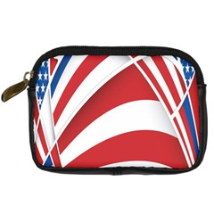 American Flag Star Blue Line Red White Digital Camera Cases by Mariart