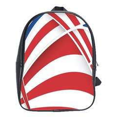 American Flag Star Blue Line Red White School Bags(large)  by Mariart