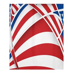 American Flag Star Blue Line Red White Shower Curtain 60  X 72  (medium)  by Mariart