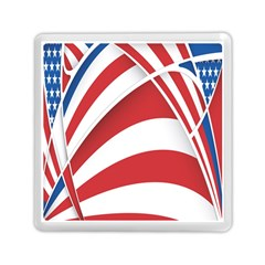 American Flag Star Blue Line Red White Memory Card Reader (square)  by Mariart