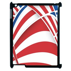 American Flag Star Blue Line Red White Apple Ipad 2 Case (black) by Mariart