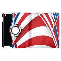American Flag Star Blue Line Red White Apple Ipad 2 Flip 360 Case