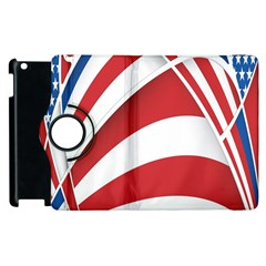 American Flag Star Blue Line Red White Apple Ipad 3/4 Flip 360 Case by Mariart