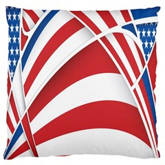 American Flag Star Blue Line Red White Standard Flano Cushion Case (one Side) by Mariart