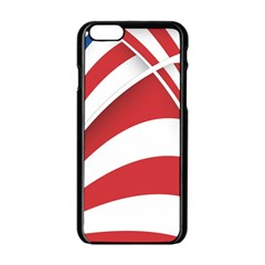 American Flag Star Blue Line Red White Apple Iphone 6/6s Black Enamel Case by Mariart