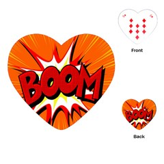Boom Sale Orange Playing Cards (heart)