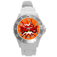Boom Sale Orange Round Plastic Sport Watch (l) by Mariart